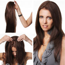 """best 16"""" 160g new fashion clip in 100% human hair half wig 3/4 wigs easy clips"""