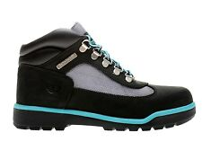 Womens Timberland Premium Leather Field Boots New, Black Blue 3299r