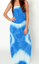 NWT! TIE DYE BOHEMIAN LONG STRAPLESS MAXI TUBE SUNDRESS GYPSY - 4 colors S M L