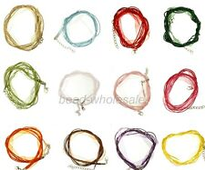 10Pcs Organza Voile String ribbon Cord Necklace Lobster Clasp Chain for Craft
