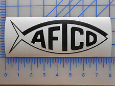 "AFTCO Logo Decal Sticker 5.5"" 7.5"" 11"" Gaff Rod Boat Fishing Net Shirt Shorts"