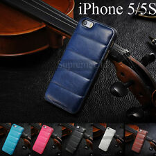 Ultra Thin Vintage Soft Sofa Leather Back Cover Case For iPhone 5 5S Holder