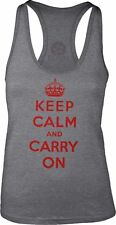 Keep Calm and Carry On (Red) Womens Racerback Tank-Top T-Shirt