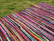 RECYCLED COTTON RAG RUGS MAT Multicoloured Large & Small Glamping BELL TENT Yurt
