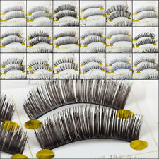 5 Pairs Women Natural Long False Eyelashes Makeup Eye Handmade Lash Lashes 010e