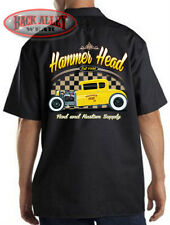 HAMMER HEAD Rod & Kustom Supply Mechanics Work Shirt M-3XL ~ Hot Rod Garage