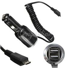 Dual USB Port Plug Car Charger Adapter with Coiled Cable For Mobile Phone