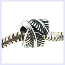 STR Silver Guardian Angel Feather Fairy Curl Bead for European Charm Bracelet