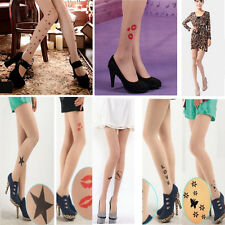 Tattoo Pattern Hot Trendy Sexy  Temptation Sheer Pantyhose Tights Stockings