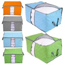 Large Jumbo Clothes Bedding Duvet Zipped Handles Laundry Storage Tidy Bag Box CA