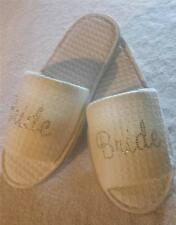 Dazzling Diamante Bride Bridal Slippers 5 designs pink or clear diamante wedding