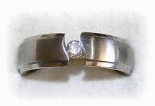 Simulated Solid Diamond Wedding Engagement Ring Mens Womens Size 7.5, 8, 10