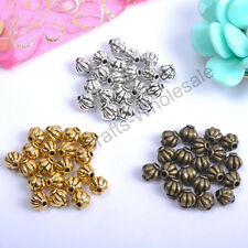 40-100pcs Tibetan Silver, Gold, Bronze, Charms Spacer Beads 4MM & 6MM, 8MM CA117