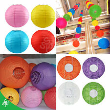 "Round Multicolor Chinese Paper Lanterns 8"",10""12"" Wedding Birthday Party"