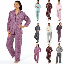 New Womens Ladies Nightwear Pyjamas Set Long Sleeve Nightdress Flowers PJ'S Size