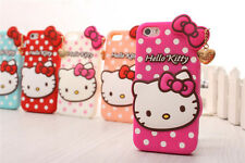 Newest 3D Cartoon Helle Kitty Silicone Case For iPhone 4 4s/5 5s Protective Cove