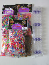 5000PCS RUBBER BANDS RAINBOW COLOURFUL LOOM SET CHILDREN BRACELET MAKING KIT SET