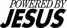 "Powered By Jesus Decal- Vinyl Sticker- Exterior Window Decal 6"" x 2.5"""