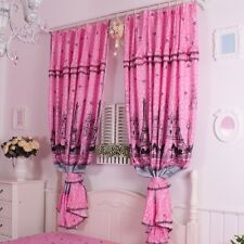 Modern Eiffel Tower Print Living Room Curtains Pink Window Curtain For Bedroom