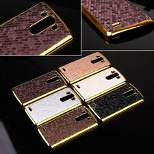 Luxury Bling PU Leather Back Cover Chromed Hard Case For LG Optimus G3 D855