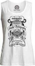 Artistic Photography Vintage Advert (Black) Womens Muscle Tank-Top T-Shirt