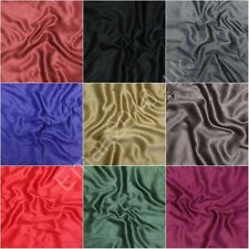 Viscose cashmere plain Soft pashmina silk blend shawl scarf wrap stole UK Seller