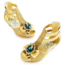 NWT DISNEY STORE BRAVE MERIDA GOLD GLADIATOR SANDALS COSTUME SHOES 2014