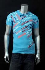 New Armani Exchange AX Mens Slim Muscle Fit Allover Logo Tee Shirt