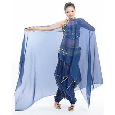 Indian Dance veil Belly Dance Chiffon veil Big Veil Shawl Gold Trim 8 Colors