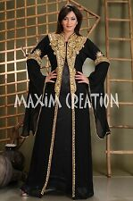 DUBAI VERY FANCY EID KAFTAN abaya jalabiya Ladies Maxi Dress Wedding gown 3272