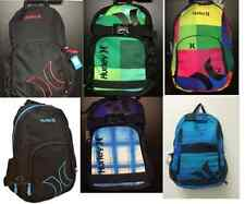Hurley Backpack Holds Laptop New Black, Red, Blue, Green Multi Color msp  $64.99