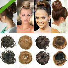 TIUS Lady Girl Clip-on Dish Hair Bun Extension Hairpiece Scrunchie Tray Ponytail