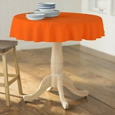 51 Inch Round Premium Quality Polyester Poplin Tablecloth. Made in USA