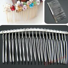 P70 Wholesale Blank Metal Hair Comb 20 Teeth Hair Clips Accessory Side Combs 8cm