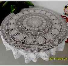 American Country Handmade Crochet Table Cloth 60 Inch Round Party Tablecloths