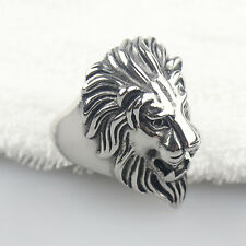 Men's Big Heavy Stainless Steel Lion King Head Ring Cool Fashion Jewelry NEW