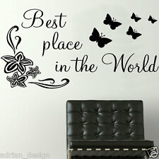 Best Place in the World, Inspirational Quote, Wall Sticker, Transfer, SALE!!!