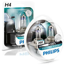 GENUINE PHILIPS X-TREME VISION H4 HEADLAMPS SINGLE/TWIN PACKS 100% MORE LIGHT