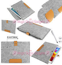 "NEW RETRO DESIGN 8"" SMART FELT SLEEVE CASE COVER BAG FOR VARIOUS 8 INCH TABLETS"