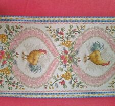 """P Kaufman Fabric - Country Roosters - 54"""" width - Morningstar - Blue - Red"""