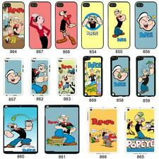 Popeye the sailor man cartoon cover case for Apple iPhone iPod & iPad No. 9