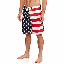 American Flag USA MENS SWIM TRUNK SHORTS STARS STRIPES SIZE S M L XL 2XL 4XL