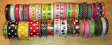 RIBBON BY THE YARD Grosgrain, SATIN, Novelty, DOTS Choose Size & Design VARIETY