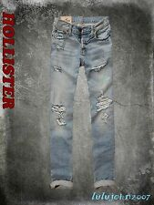 2014 Hollister Men Destroyed light wash Skinny jeans size 32x30 new with tag