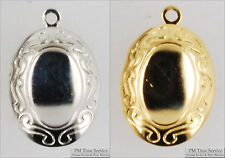 Small oval engraved locket with matching necklace option