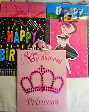 "Various Happy Birthday Gift Party Bag and Gift Tag 13"" x 10.5"" x 5.25"" Reduced"