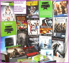 HUGE LOT OF RARE VIDEO GAME COLLECTORS PROMO STANDEE BOXES PS3 PS4 XBOX ONE 360