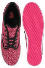 Vans Atwood ladies neon pink cheetah lace up canvas rubber trainer size 3.5-4.5