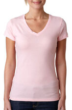 Next Level Women's Stitched 100% Cotton V Neck Sporty T-Shirt, 10-Pack. 3400L