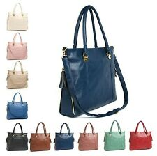 Add Tracking Side zipper Artificial Leather Women Shoulder Tote Bags Handbags